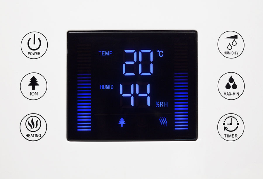La pantalla digital con teclas táctiles intuitivas es fácil de operar