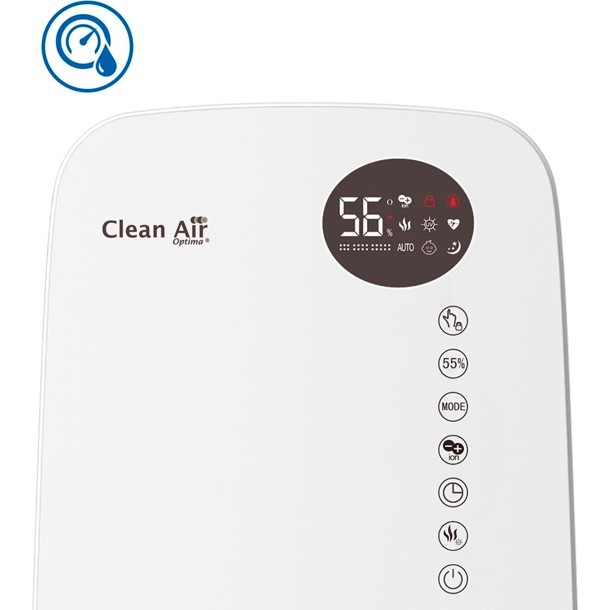 humidificador de aire Clean Air Optim CA-606 panel de accionamiento