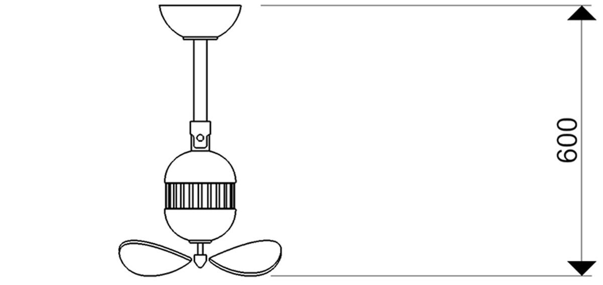 Esquema ventilador para techo AireRyder FN11146 Toledo brazo movil