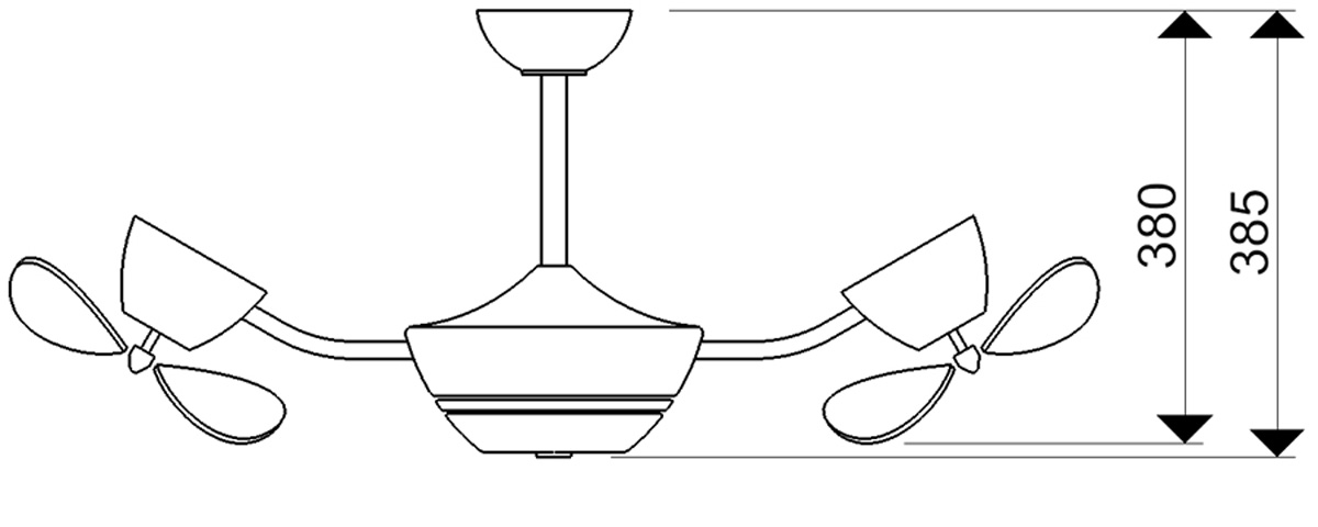 Esquema ventilador para techo AireRyder FN41132 eFan motor bajo consumo