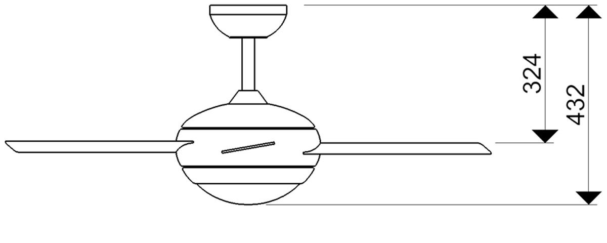 Esquema ventilador para techo AireRyder FN52217 Fresco funcion inversa
