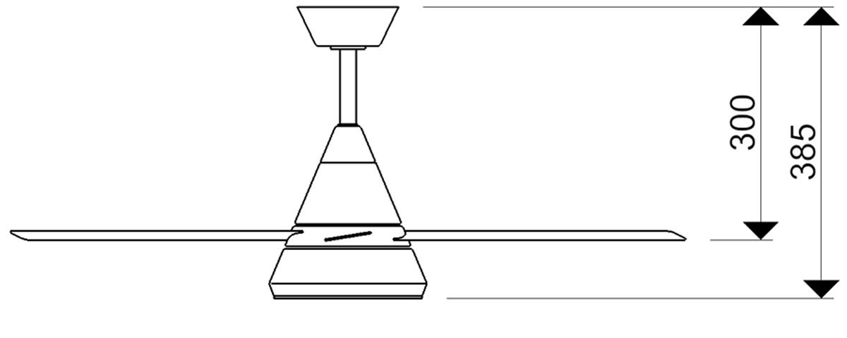 Esquema ventilador de techo con luz AireRyder FN71132 Cosmos bajo consumo