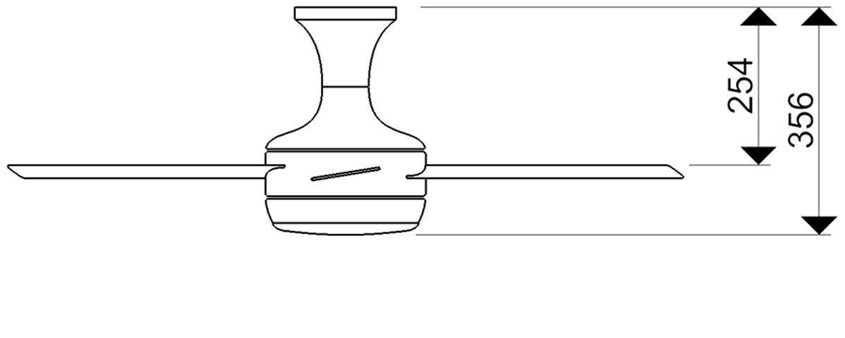 Esquema ventilador para techo AireRyder FN52238 Saturn función inversa