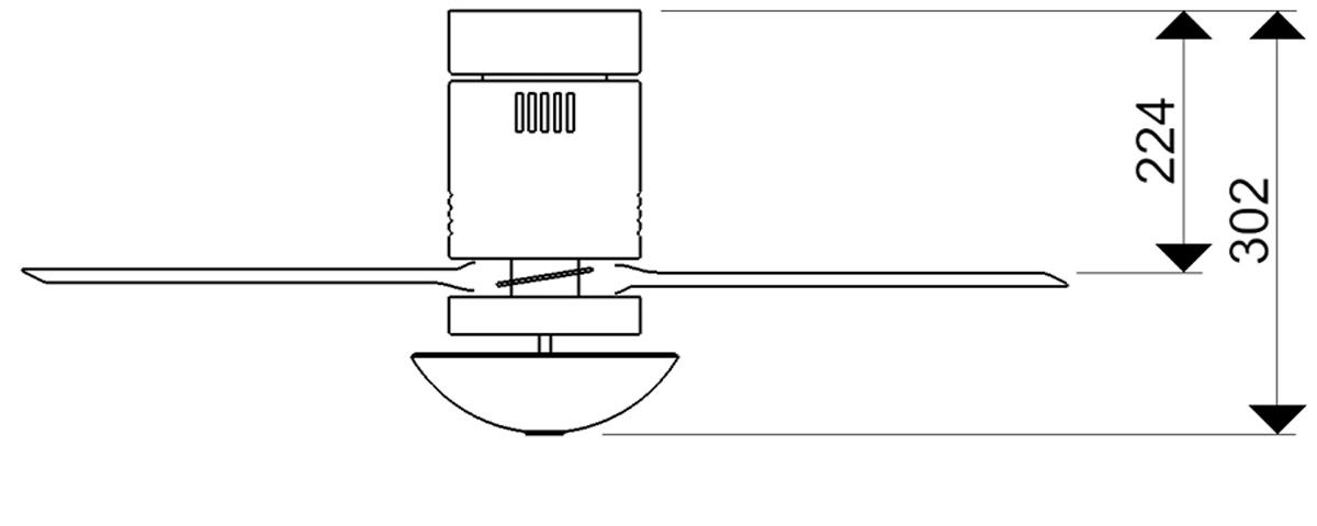 Esquema ventilador para techo AireRyder FN73335 Aero funcion inversa