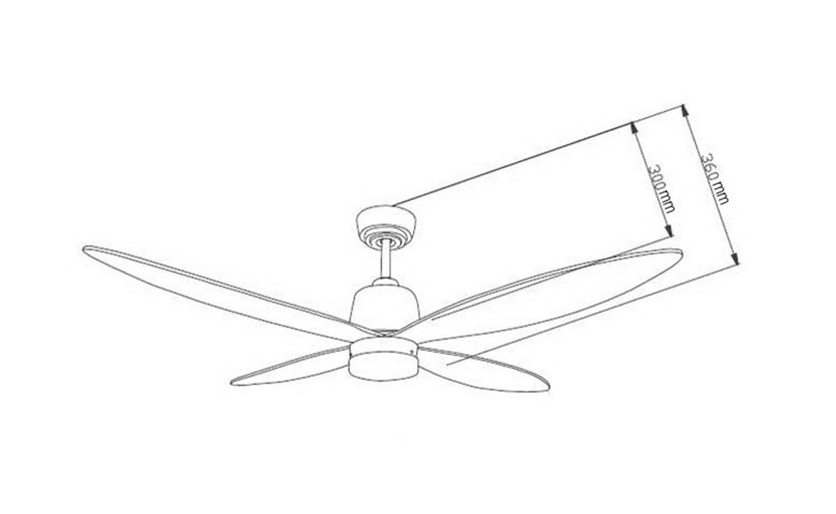 Ventilador de techo con led luz aireryder fn74435 stratus - Motores de ventiladores de techo ...