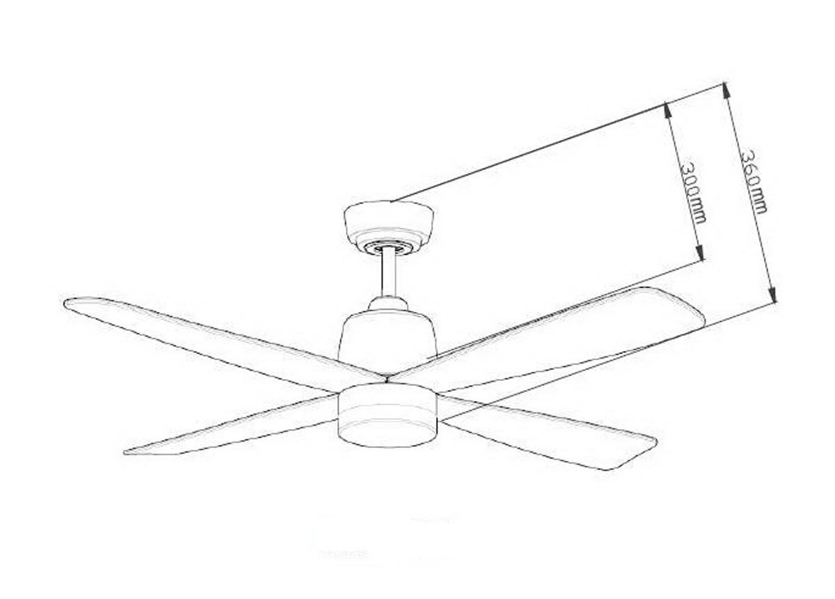 Esquema ventilador para techo AireRyder FN74439 Stratus función inversa