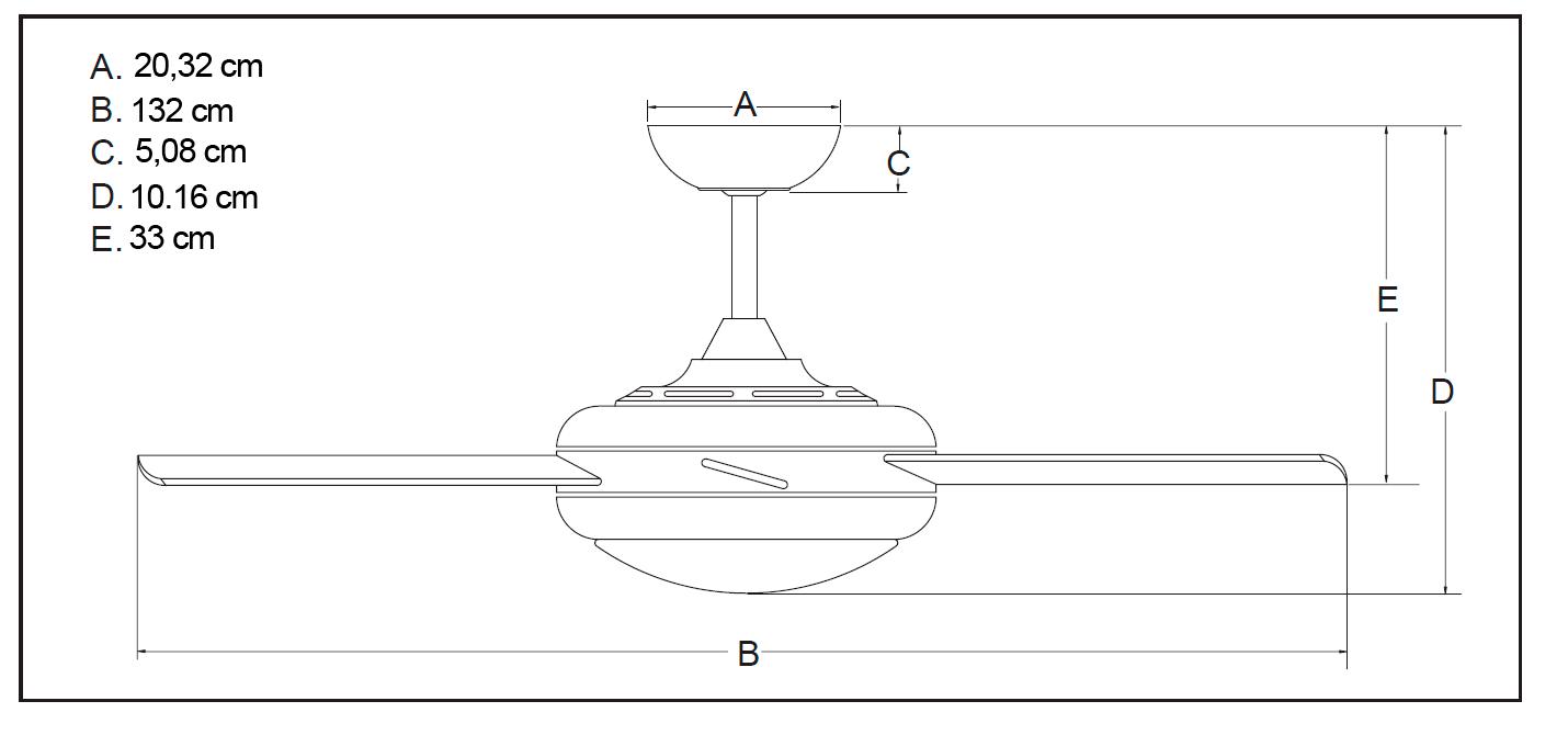 ventilador de techo AireRyder FN66635 Borealis pino/níquel