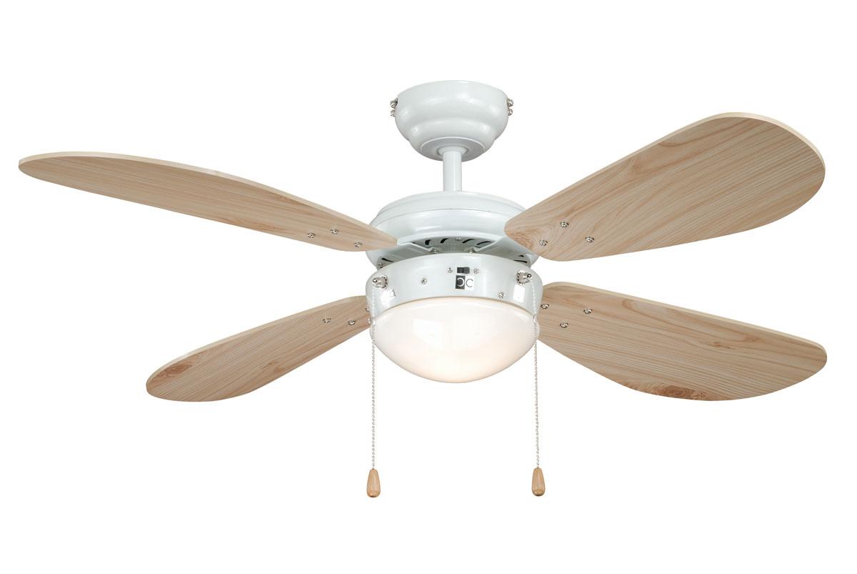 Ventilador de techo AireRyder con luz FN43315 Classic pino blanco