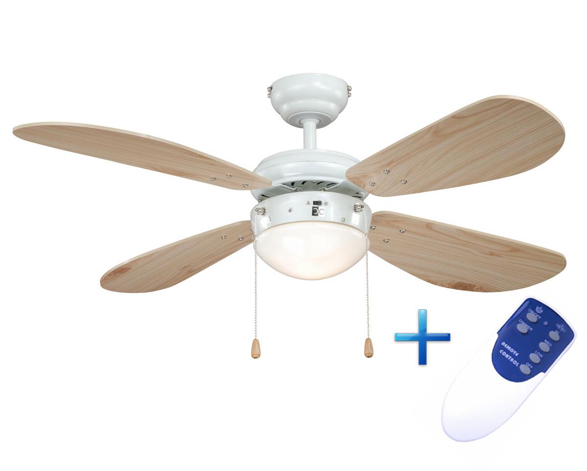 Ventilador de techo AireRyder con luz  y mando distancia FN43315RR Classic pino/blanco