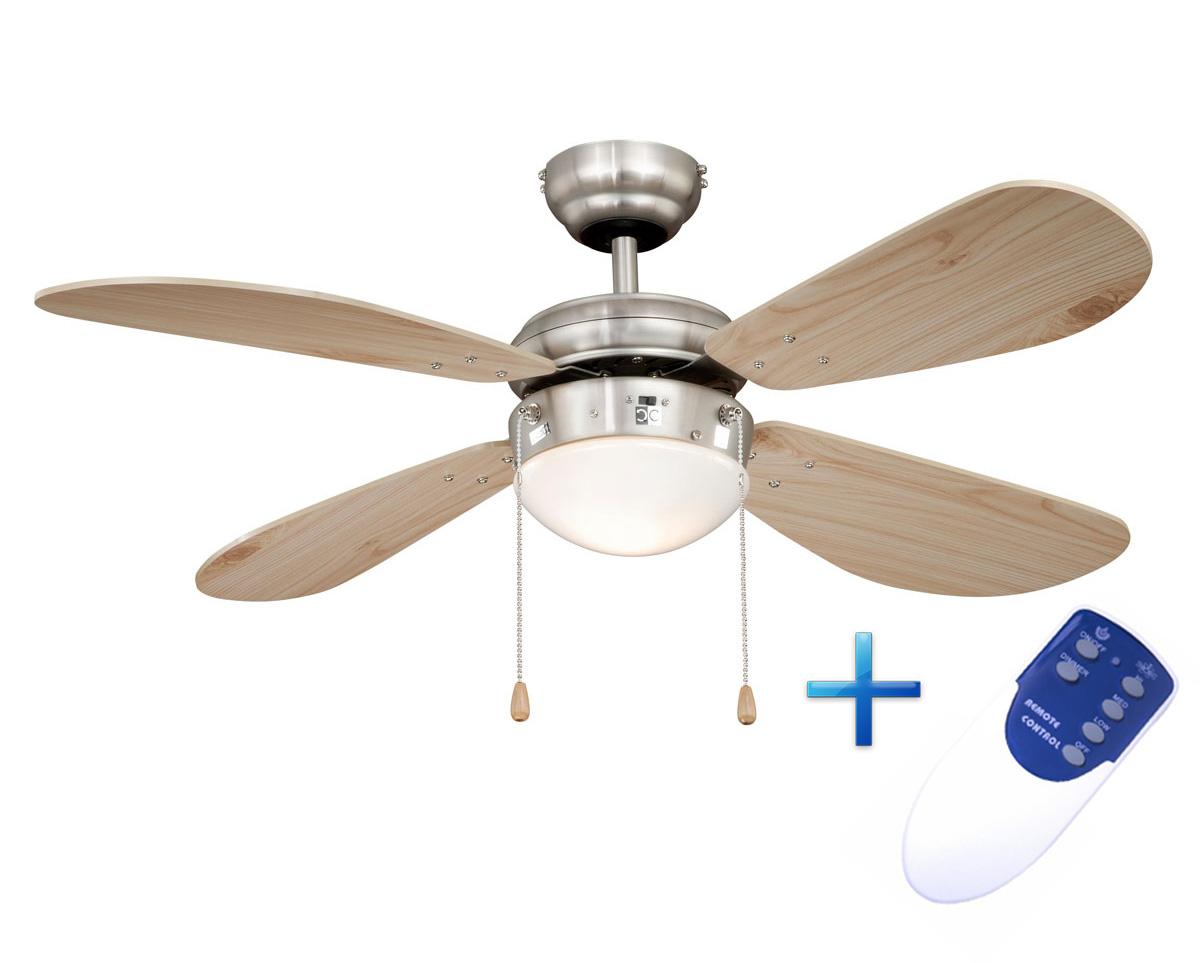 Ventilador de techo con luz y mando a distancia aireryder - Instalacion de ventilador de techo ...