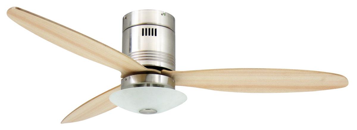 Ventilador de techo AireRyder con luz FN73335 Aero aspas arce