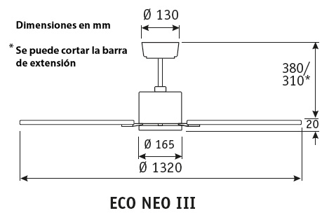 Esquema ventilador de techo CasaFan 922511 Eco Neo  103