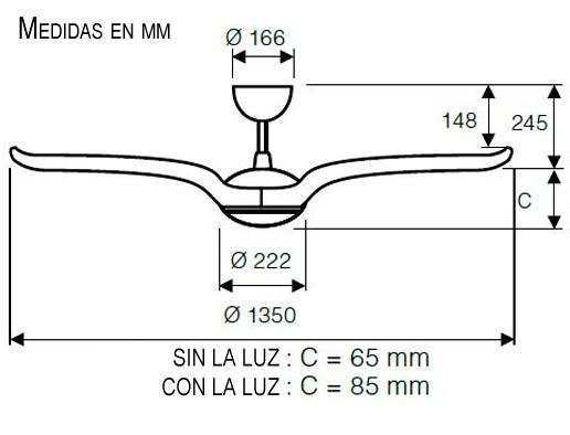 Esquema ventilador de techo CasaFan Eco Volare