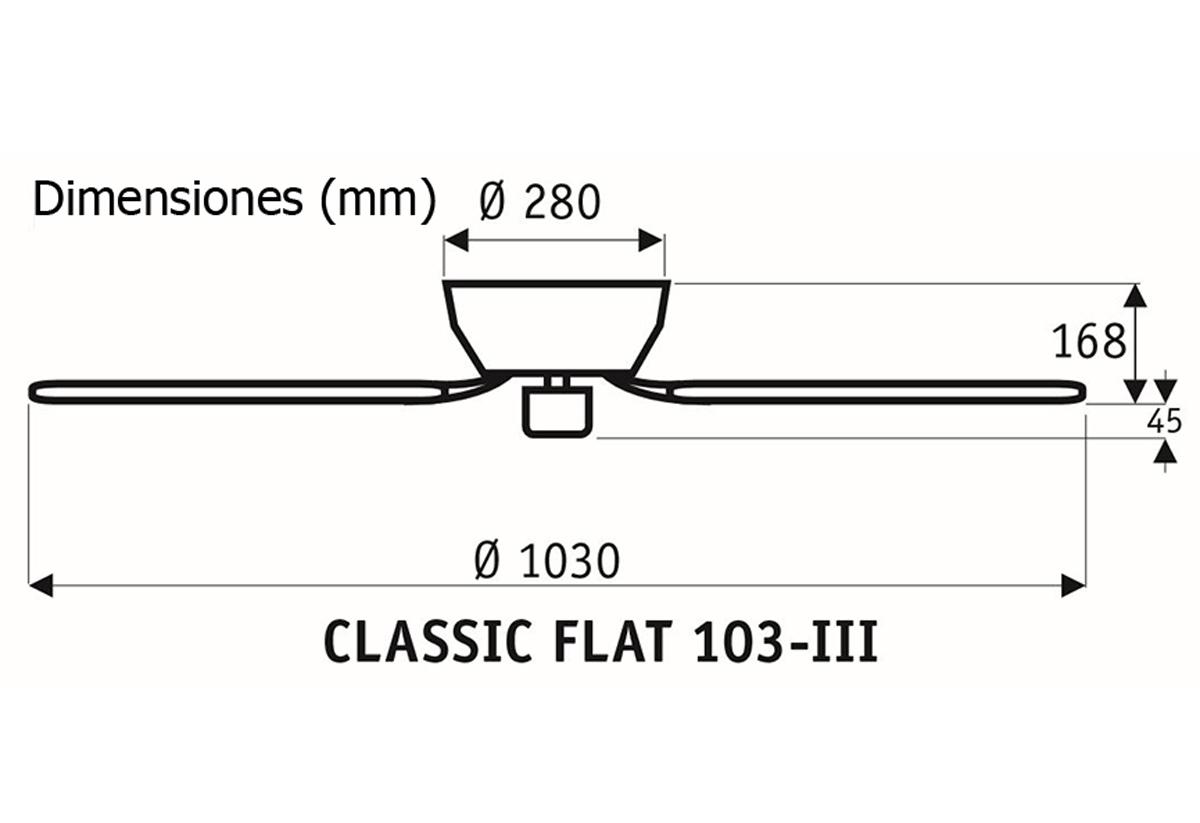 Esquema ventilador de techo CasaFan 5103061 Classic Flat 103