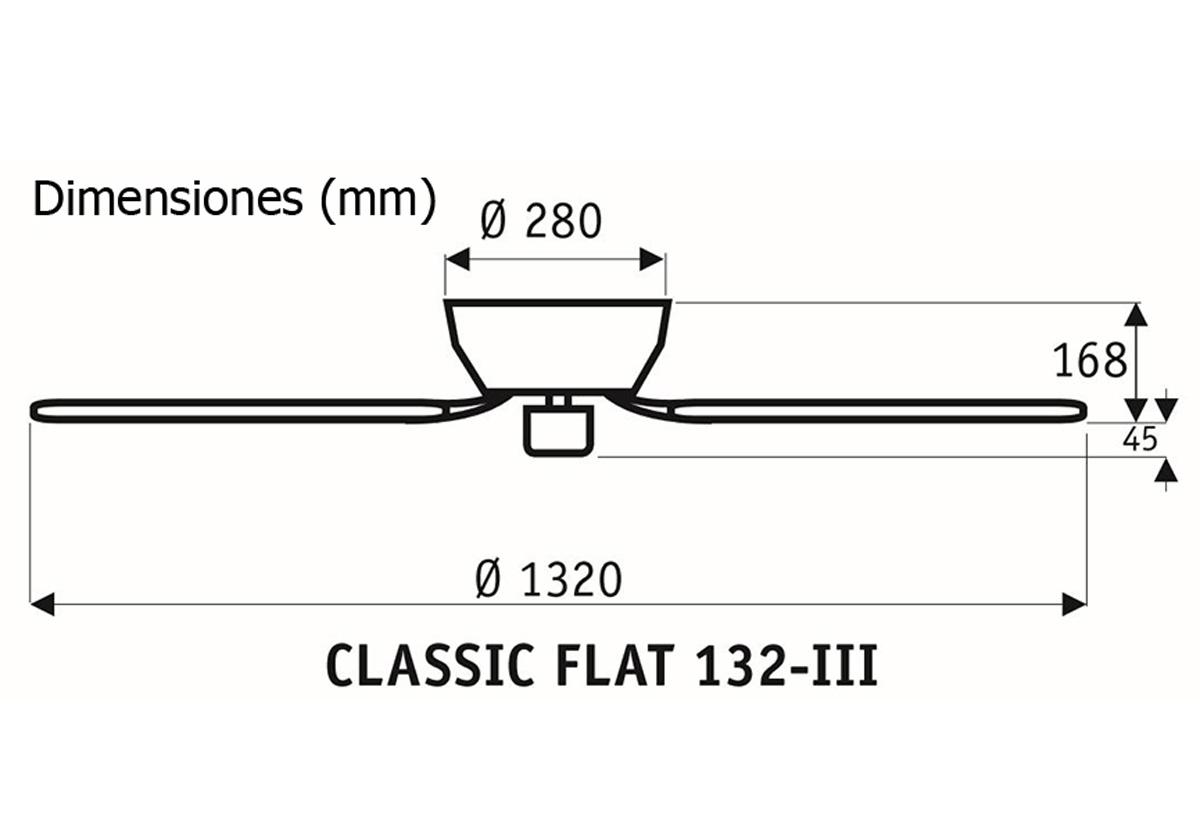 Esquema ventilador de techo CasaFan 5132041 Classic Flat 132
