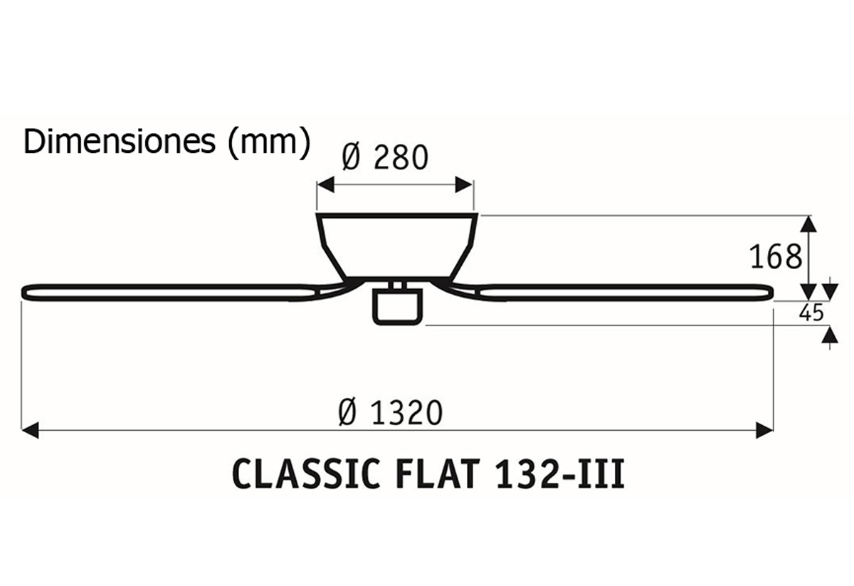 Esquema ventilador de techo CasaFan 5132061 Classic Flat 132