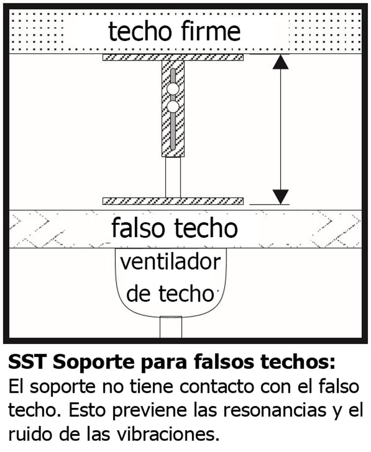 Soporte para techo falso SST 35-65