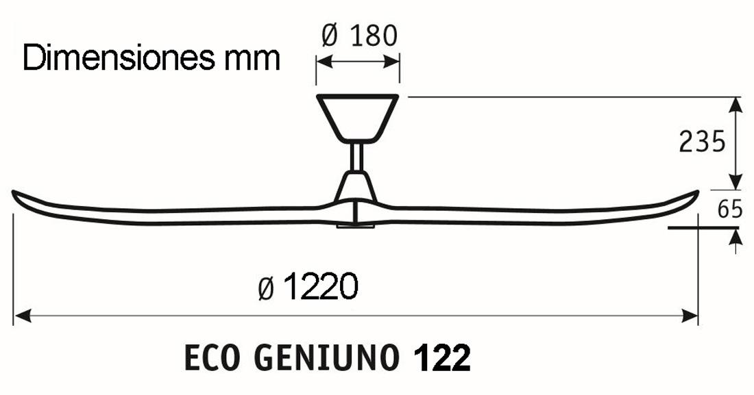 Esquema ventilador de techo CasaFan 312216 Eco Genuino
