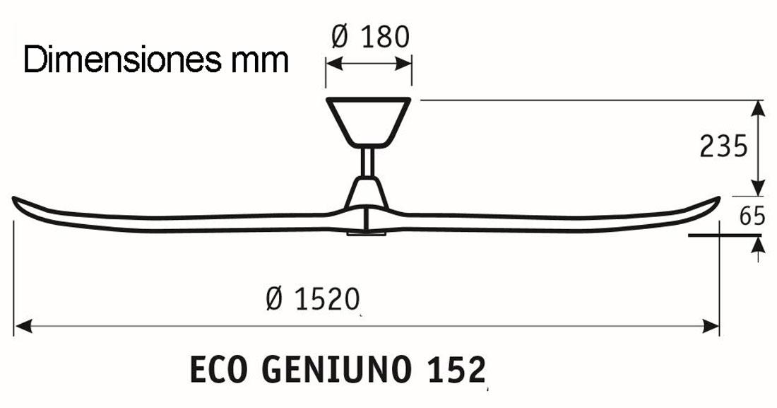 Esquema ventilador de techo CasaFan 315216 Eco Genuino