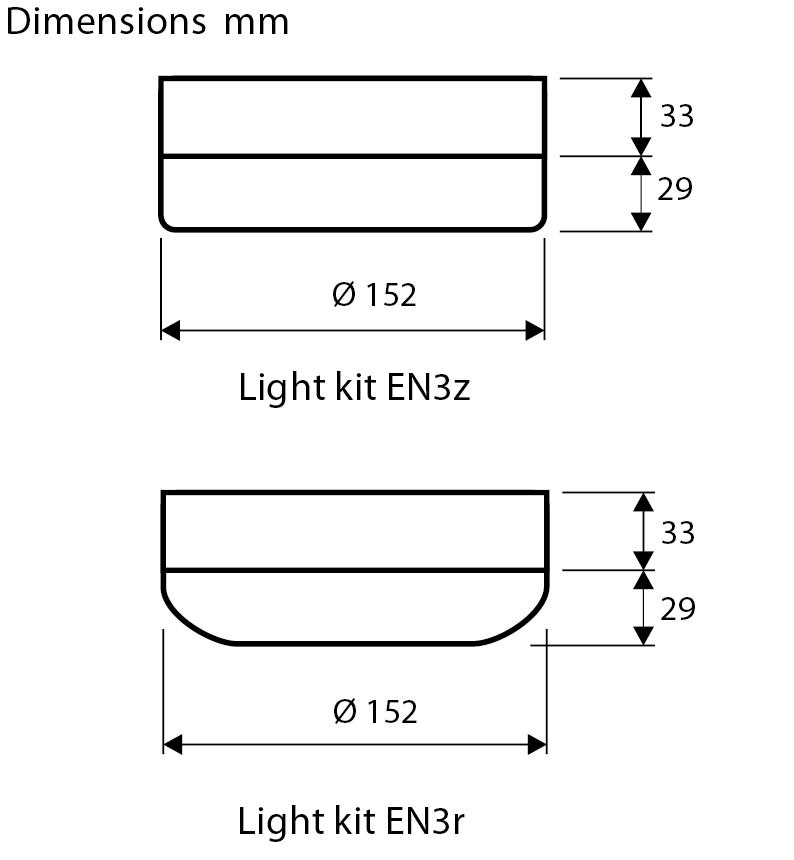 Esquema del kit de luz EN3  para ventilador de techo CasaFan