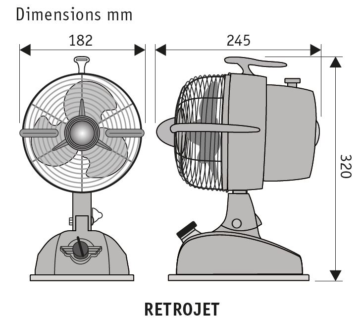 Esquema ventilador de mesa CasaFan  301503 RetroJet