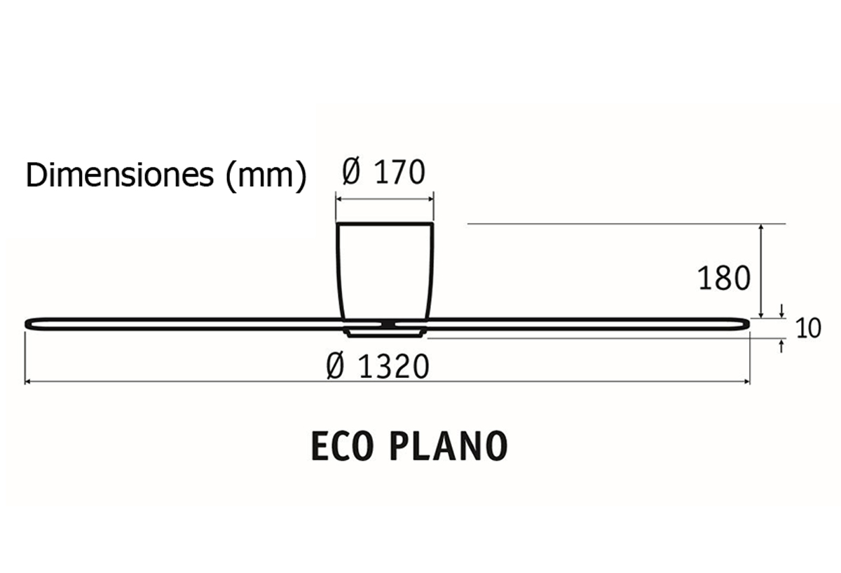 Esquema ventilador de techo CasaFan 313263 Eco Plano