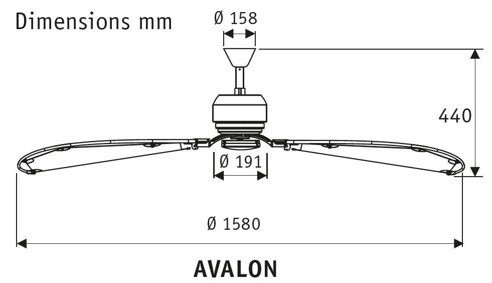 Esquema de ventilador de techo 24283 Avalon