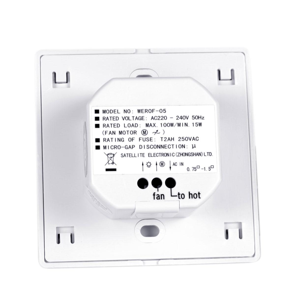 Control a pared para ventilador de techo sulion Meteor