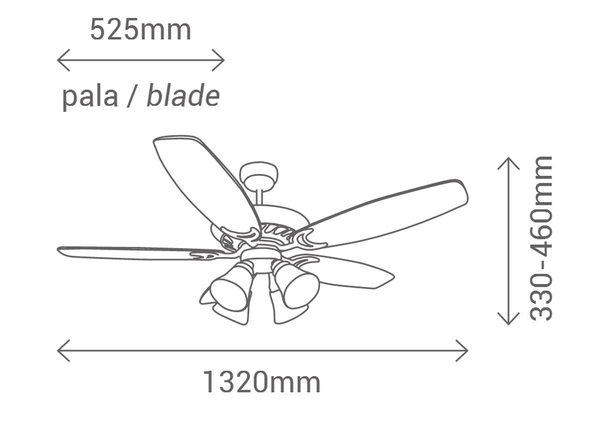 Esquema ventilador de techo Sulion 072130