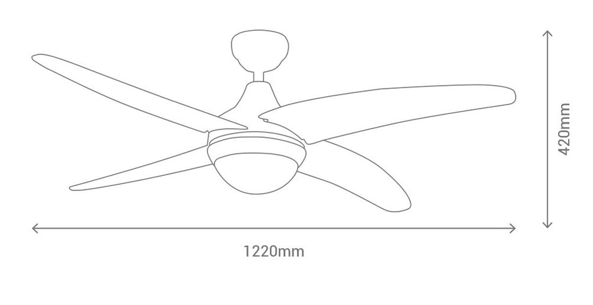 Esquema ventilador de techo Sulion Belair 075663