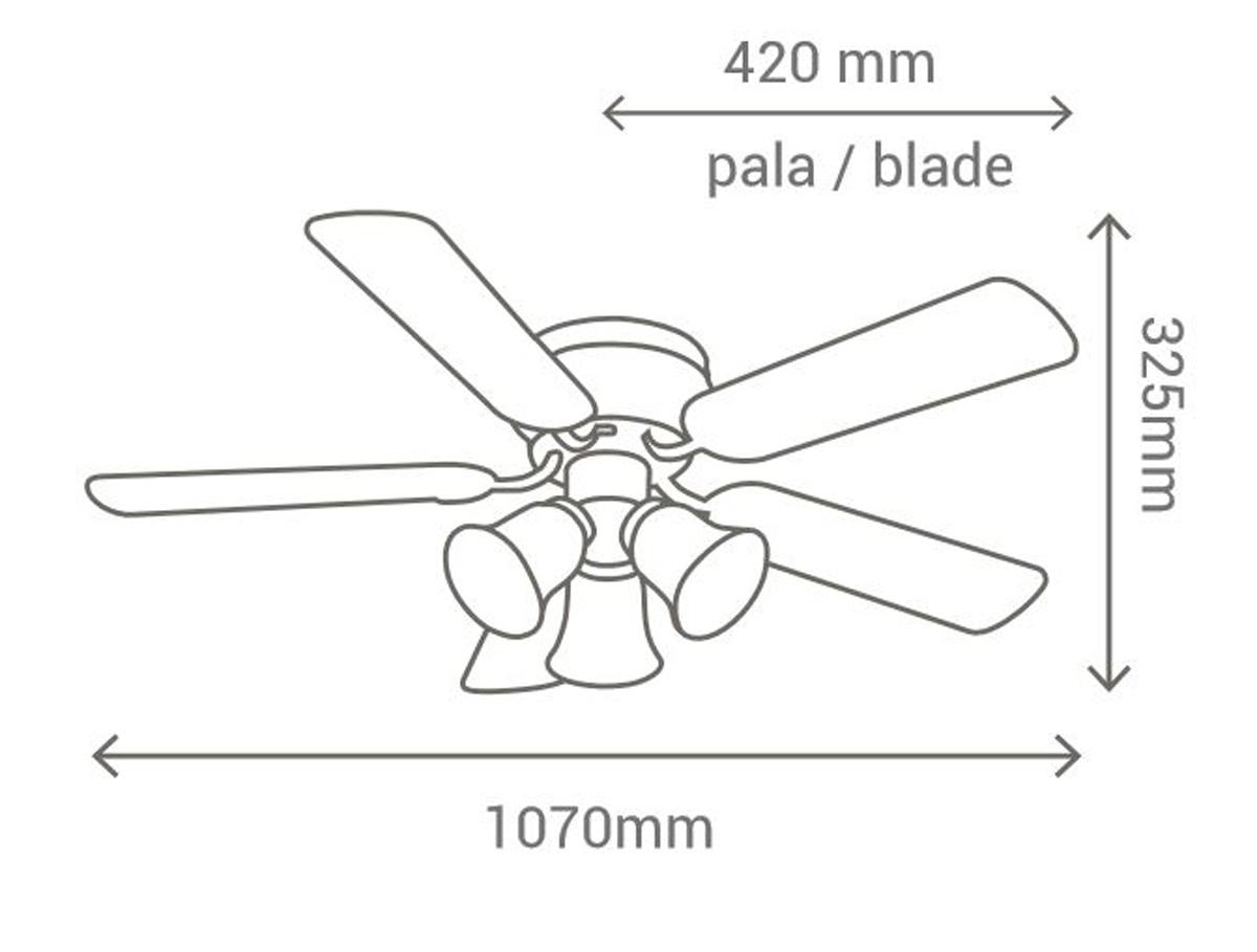 Esquema ventilador de techo con luz Sulion 075660