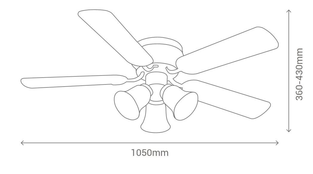 Esquema ventilador de techo Sulion hornet 075438