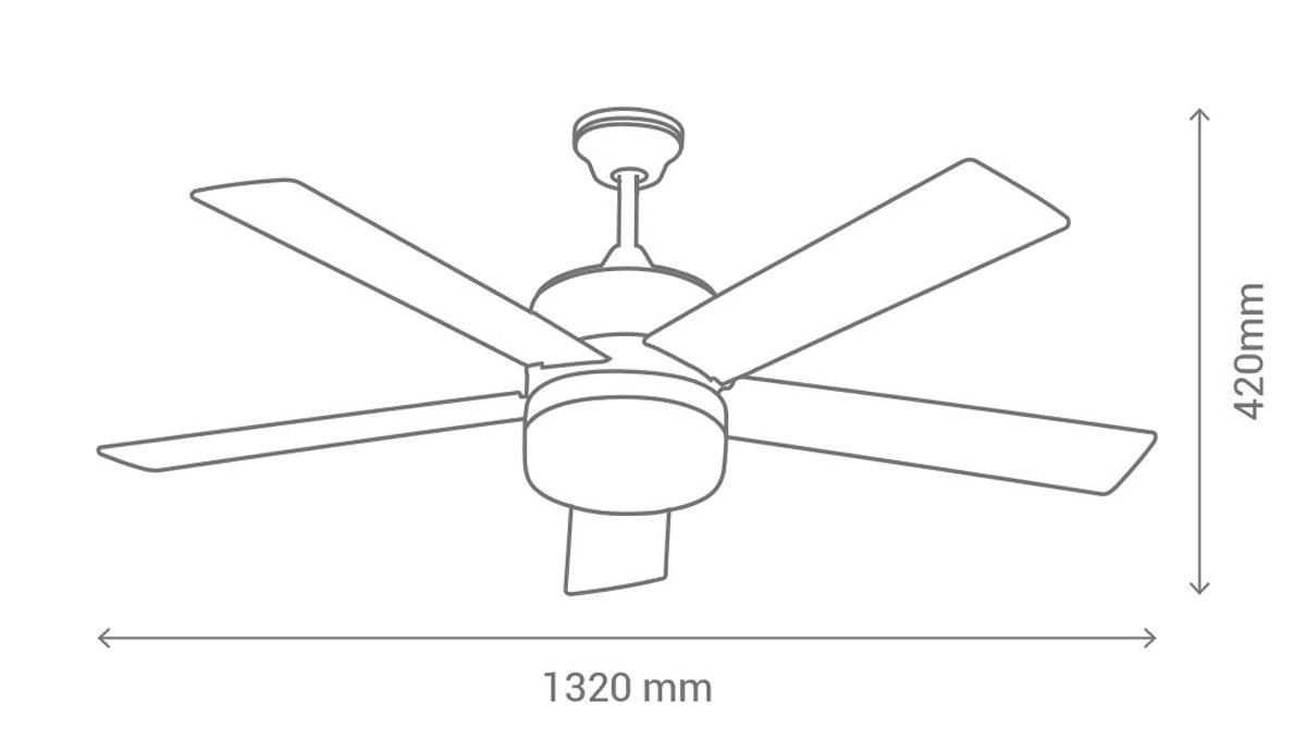 Esquema ventilador de techo Sulion denel 075653