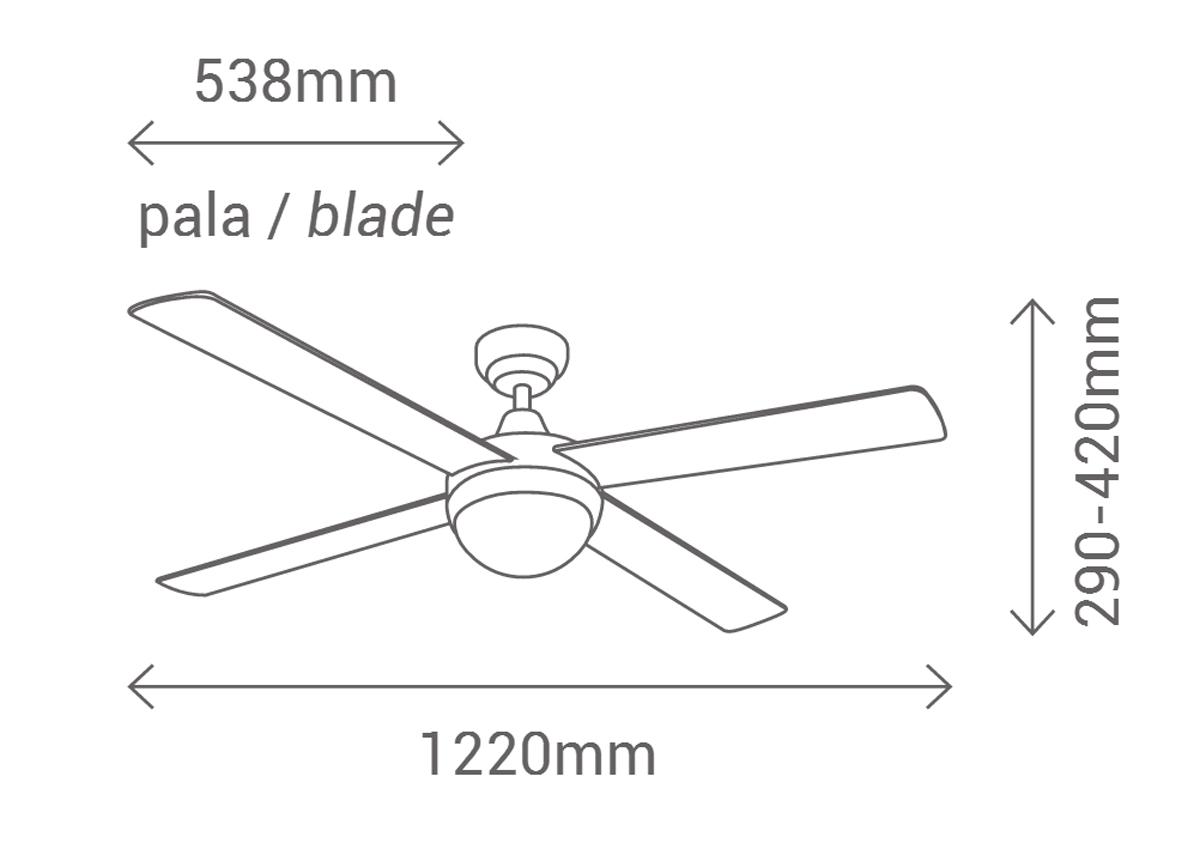 Esquema ventilador de techo Sulion 075005 Cross cr