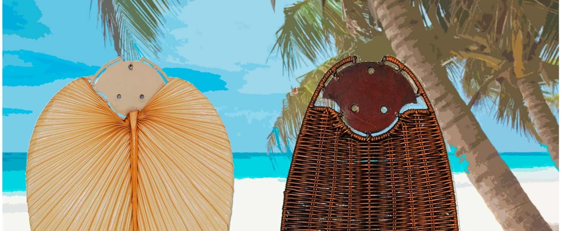 Aspas con forma de hoja de palmera: un toque tropical para