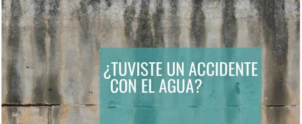 ¿Cómo secar las paredes después de un accidente de agua?