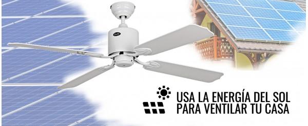 Llegan los ventiladores de techo que funcionan con energía solar